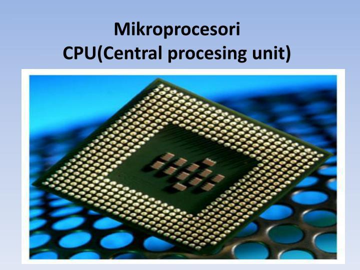 Mikroprocesori