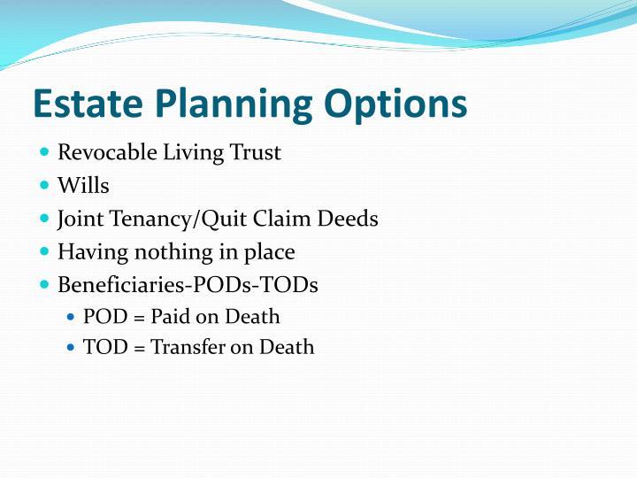 Estate Planning Options