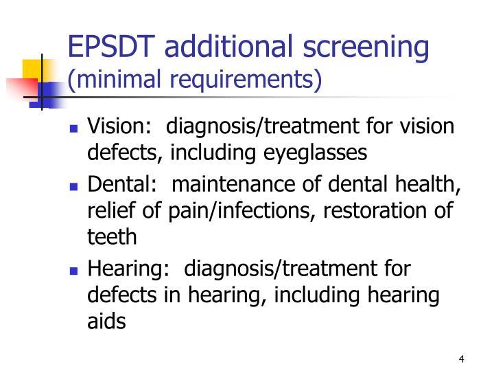 EPSDT additional screening