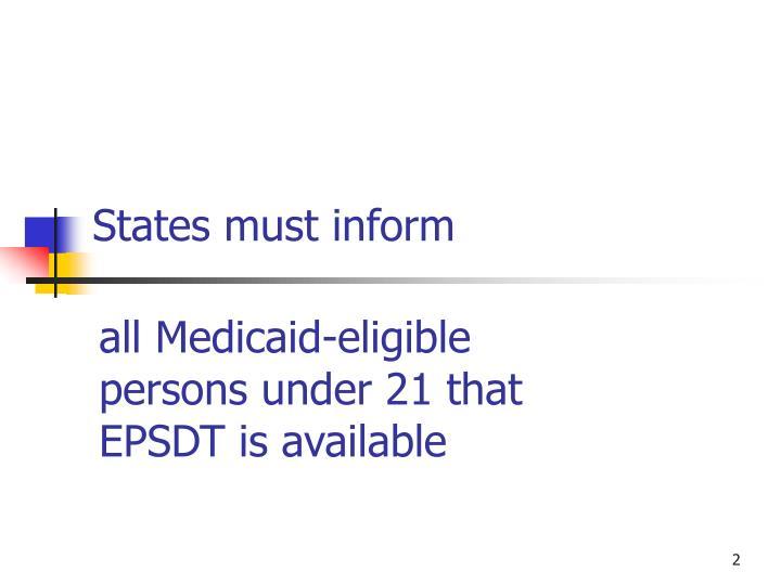 States must inform