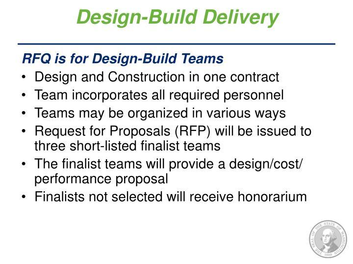 Design-Build Delivery