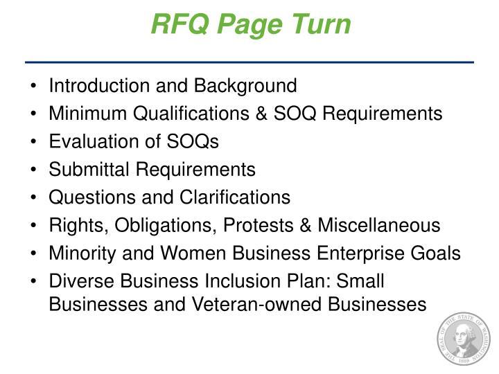 RFQ Page Turn