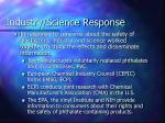 industry science response