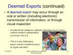 deemed exports continued