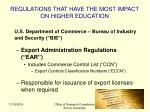 regulations that have the most impact on higher education2