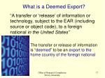 what is a deemed export