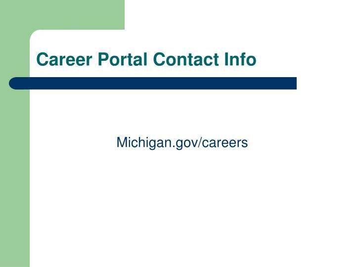 Career Portal Contact Info