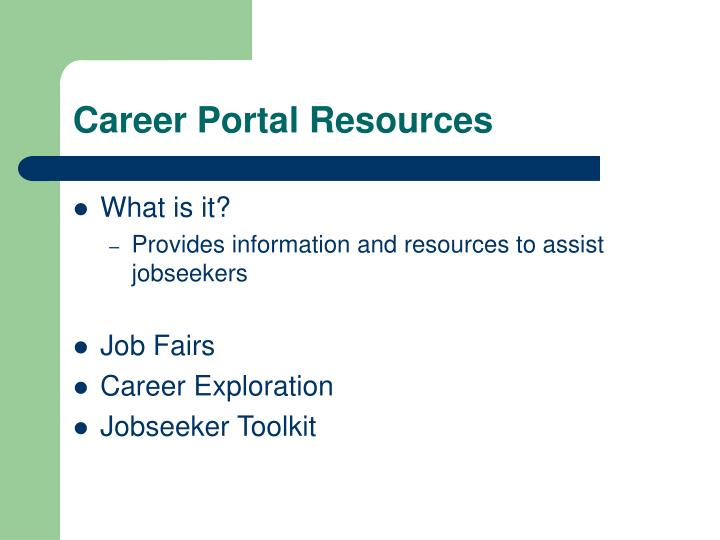 Career Portal Resources