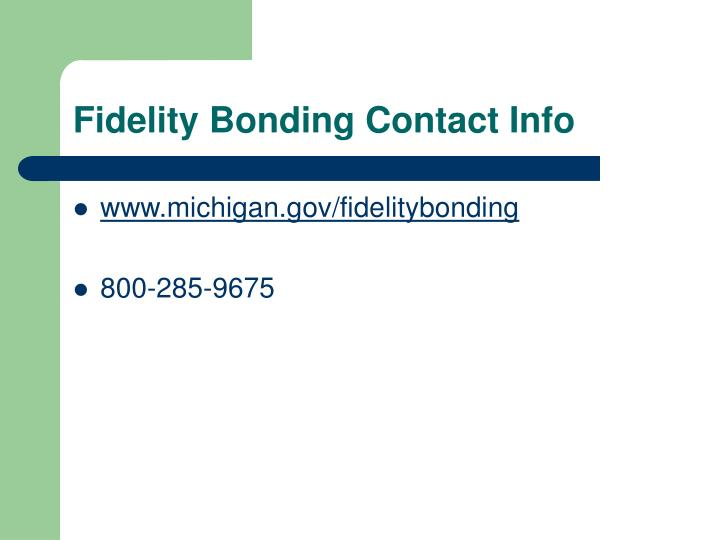 Fidelity Bonding Contact Info