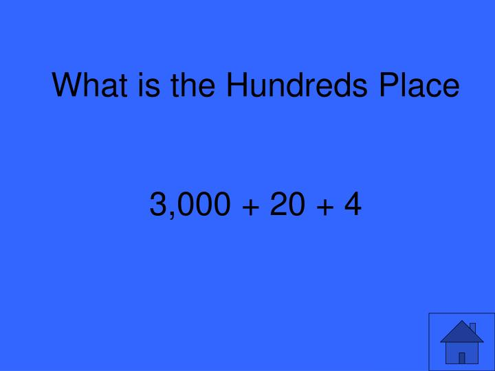 What is the Hundreds Place