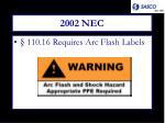 2002 nec