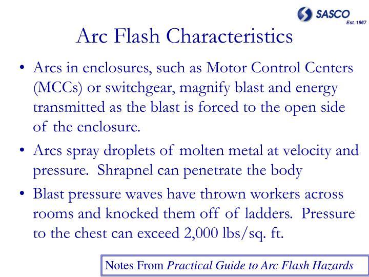 Arc Flash Characteristics