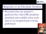 response to an electrical accident