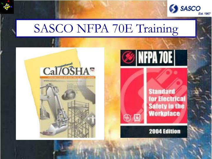 SASCO NFPA 70E Training