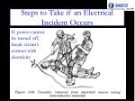 steps to take if an electrical incident occurs