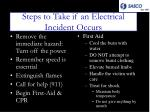 steps to take if an electrical incident occurs1