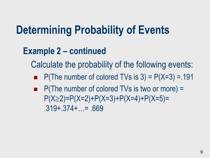 Determining Probability of Events