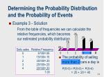 determining the probability distribution and the probability of events1