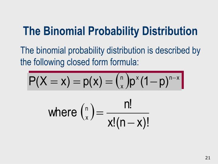 The Binomial Probability Distribution