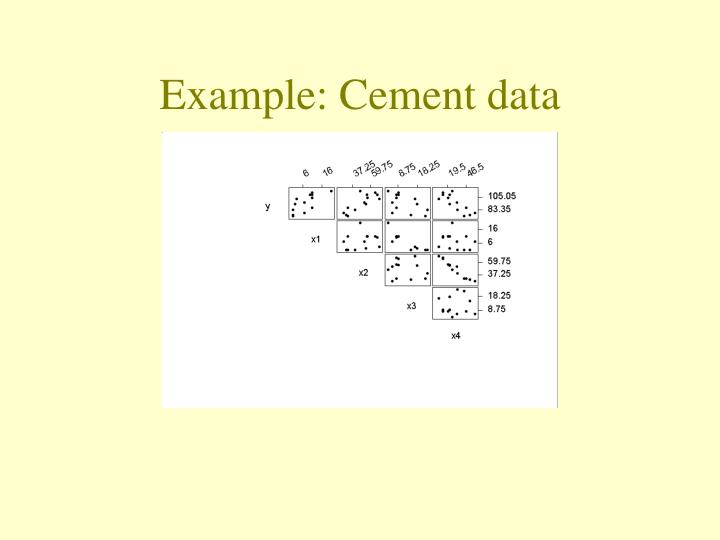 Example: Cement data