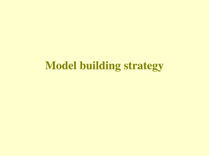 Model building strategy