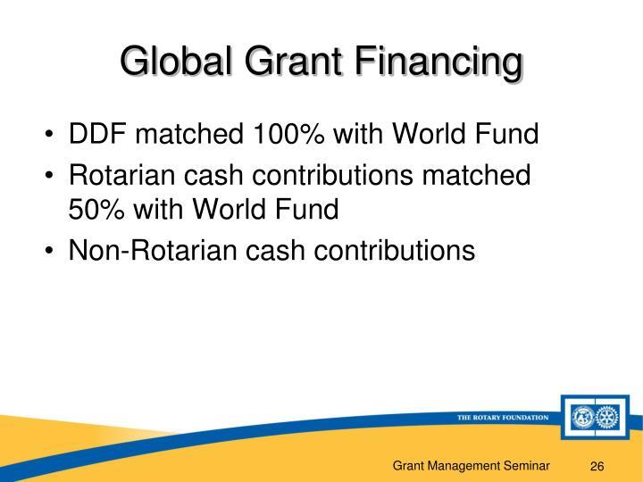 Global Grant Financing