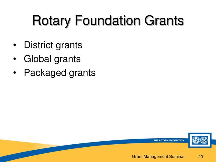 Rotary Foundation Grants