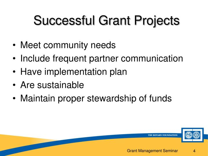 Successful Grant Projects