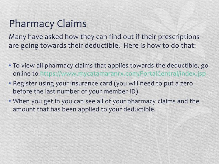 Pharmacy Claims