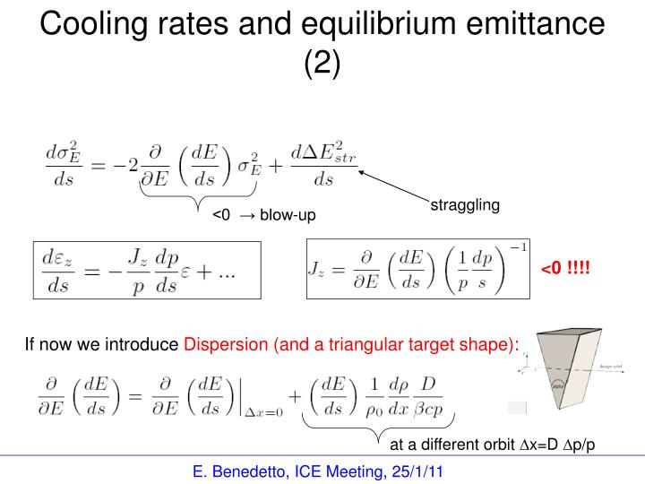 Cooling rates and equilibrium emittance (2)