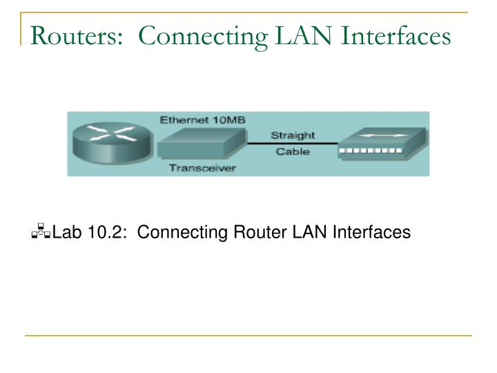 Routers:  Connecting LAN Interfaces