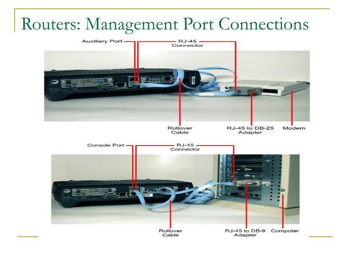 Routers: Management Port Connections