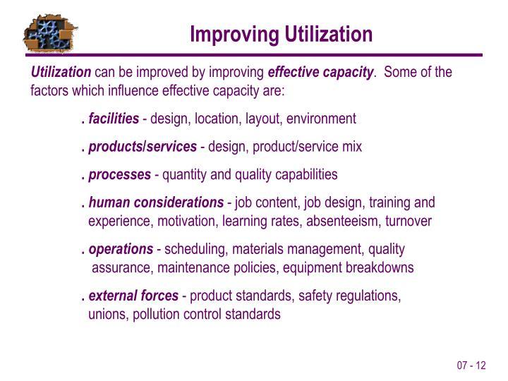 Improving Utilization