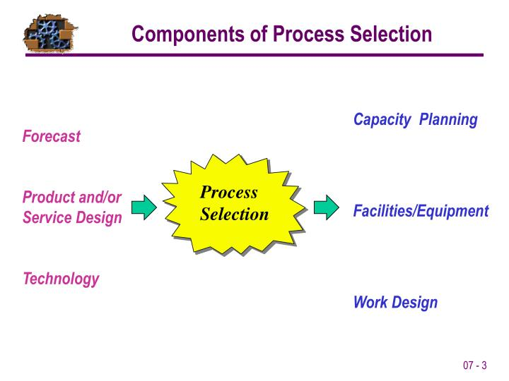 Components of Process Selection