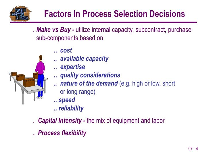 Factors In Process Selection Decisions