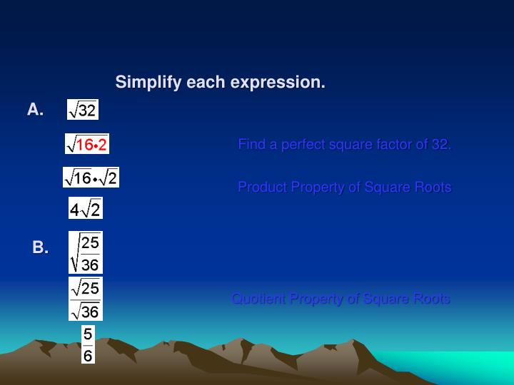 Simplify each expression.