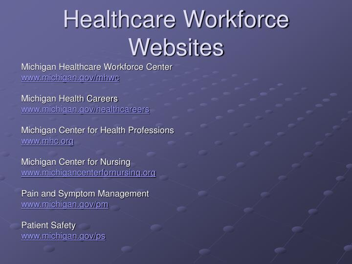 Healthcare Workforce Websites