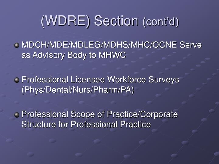 (WDRE) Section