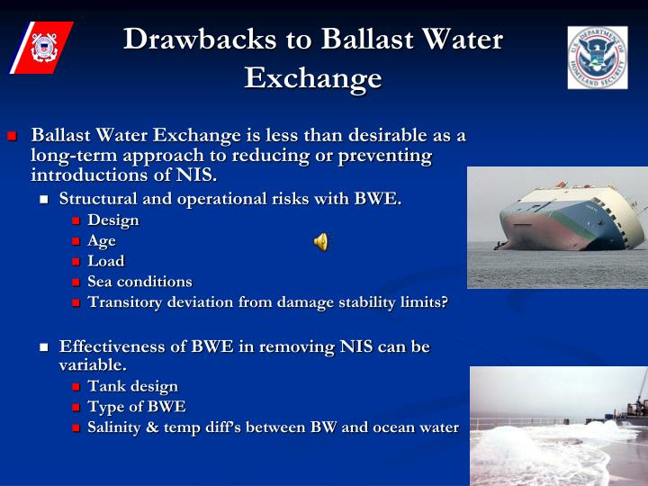 Drawbacks to Ballast Water Exchange