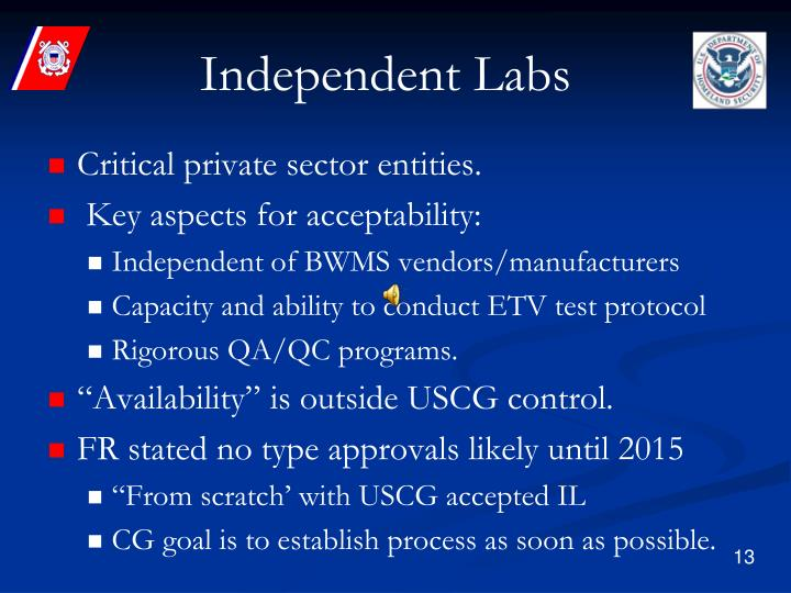 Independent Labs
