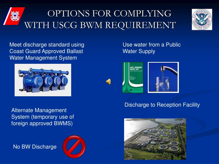 OPTIONS FOR COMPLYING