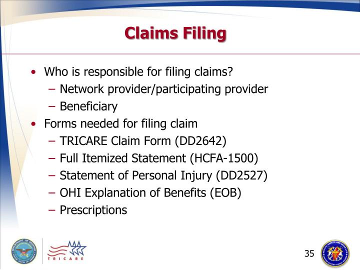 Claims Filing