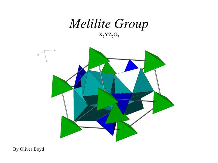 Melilite group x 2 yz 2 o 7