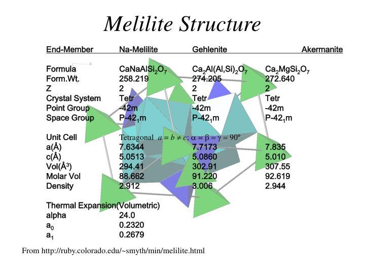 Melilite Structure