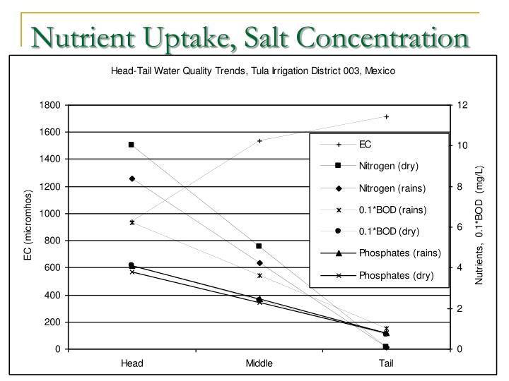 Nutrient Uptake, Salt Concentration