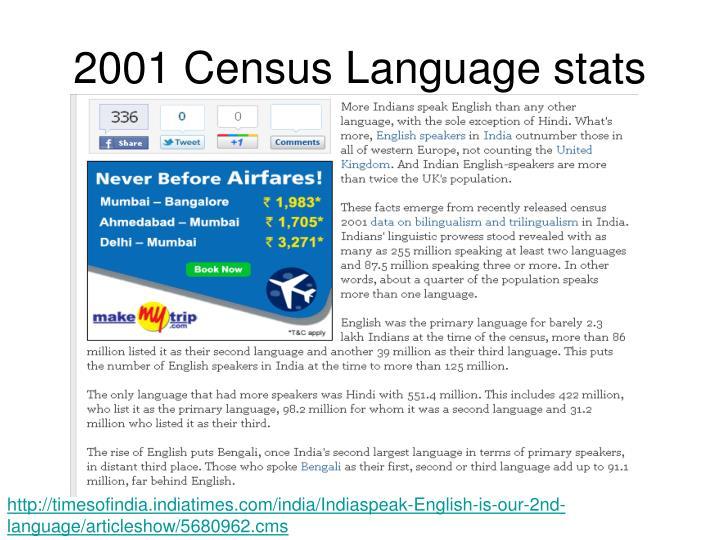 2001 Census Language stats