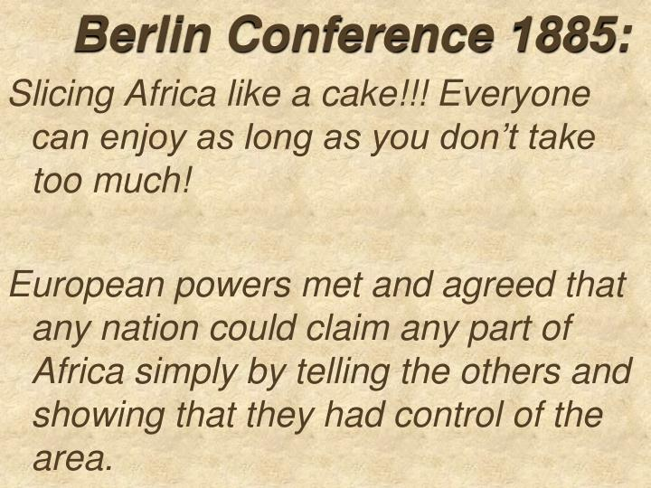 Berlin Conference 1885: