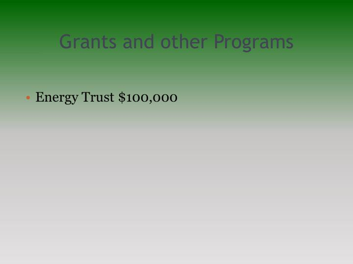 Grants and other Programs