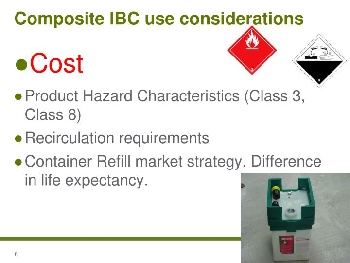 Composite IBC use considerations