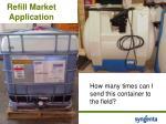 refill market application